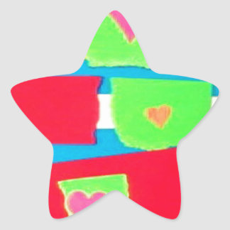 Torn Paper Collage Star Stickers