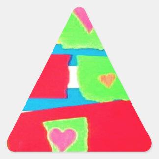 Torn Paper Collage Triangle Sticker
