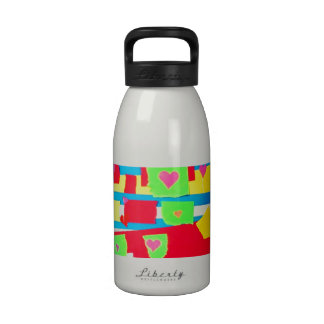 Torn Paper Collage Water Bottle