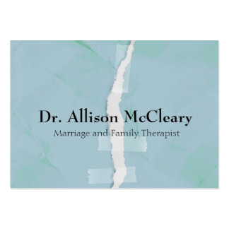 Torn paper family psychology therapy business card templates