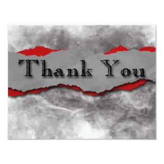 Torn Paper Thank You Card