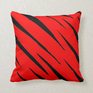Torn Red and Black Throw Pillow