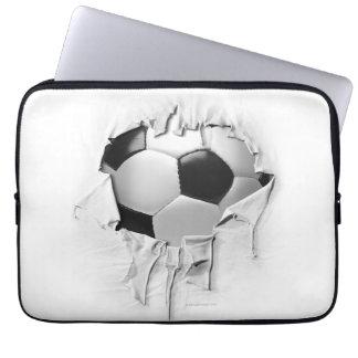 Torn Soccer Computer Sleeve
