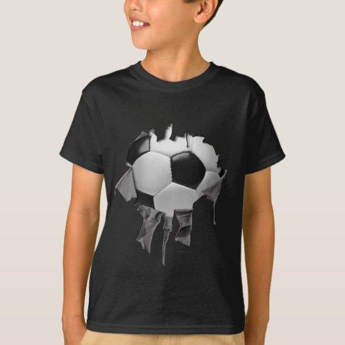 Torn Soccer Dark T_Shirt