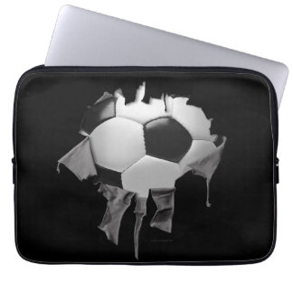 Torn Soccer Laptop Sleeve