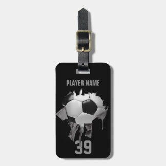 Torn Soccer (personalized) Luggage Tag