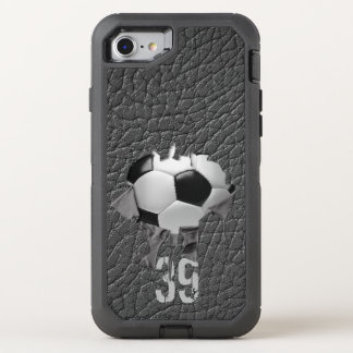 Torn Soccer (personalized) OtterBox Defender iPhone 7 Case