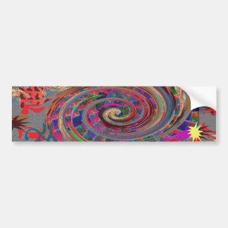 Tornado ALEGRE del crepúsculo del espiral de la Pegatina De Parachoque