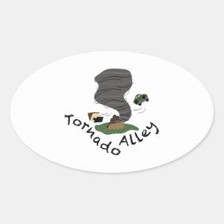 Tornado Alley Oval Sticker