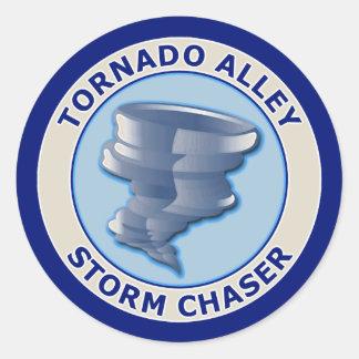 Tornado Alley Storm Chaser Classic Round Sticker