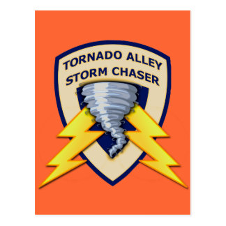 Tornado Alley Storm Chaser Postcard