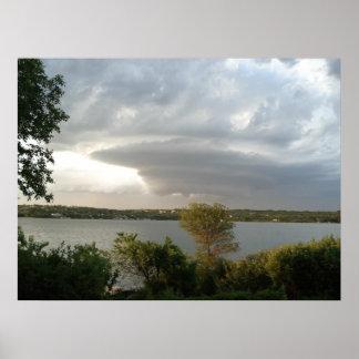 Tornado At Last Mountain Lake Poster