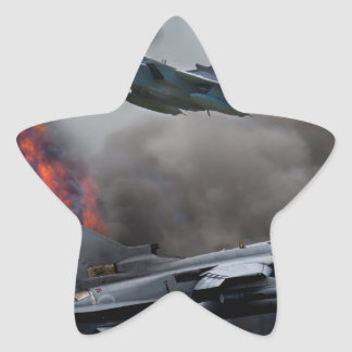 Tornado attack star sticker