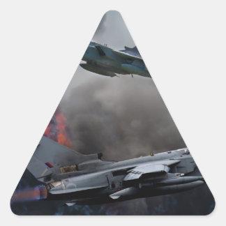 Tornado attack triangle sticker