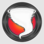 Tornado blanco pegatina redonda