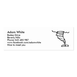 Tornado Double-Sided Mini Business Cards (Pack Of 20)