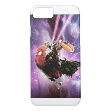 Tornado Cat Riding Chicken With Hotdog iPhone 8/7 Case