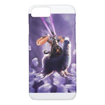 Tornado Cat Riding Llama Eating Hotdog iPhone 8/7 Case