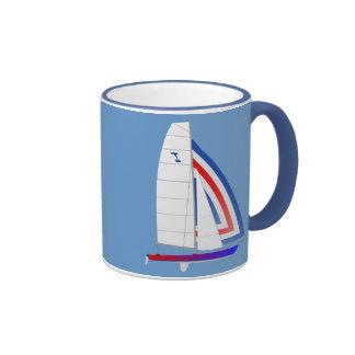 Tornado  Class Racing Sailboat Ringer Coffee Mug