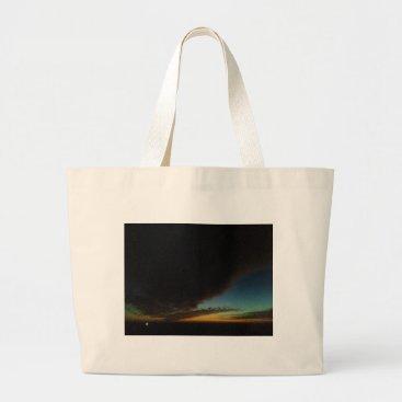 Beach Themed Tornado cloud large tote bag