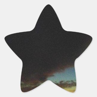Tornado cloud star sticker