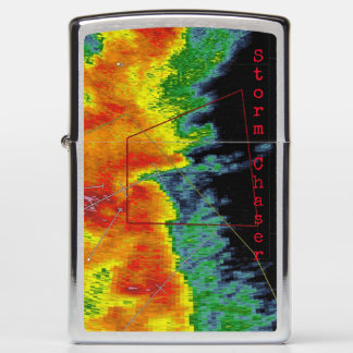 Tornado Color Radar Image Storm Chaser Zippo Lighter