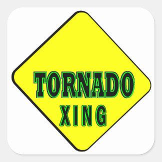 Tornado Crossing Square Sticker