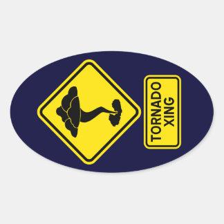 Tornado Crossing Sticker