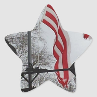 Tornado Damaged Flag, But Never Broken Star Sticker