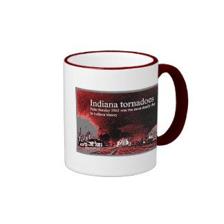 Tornado de Indiana del diseño de la taza