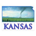 Tornado de Kansas Tarjetas Postales