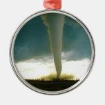 Tornado de la categoría F5 que se acerca a Elie Adorno Navideño Redondo De Metal