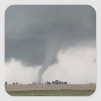 Tornado del campo pegatina cuadrada