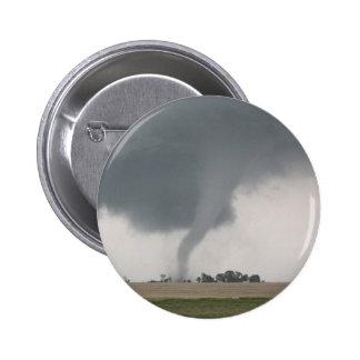 Tornado del campo pin redondo de 2 pulgadas