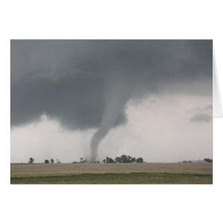 Tornado del campo tarjeta de felicitación