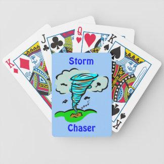 Tornado del cazador de la tormenta baraja cartas de poker