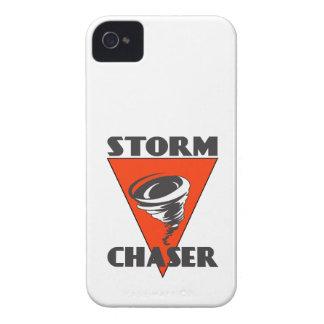 Tornado del cazador de la tormenta y triángulo iPhone 4 fundas