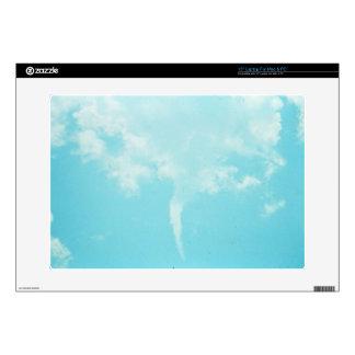 Tornado del cielo azul portátil calcomanía