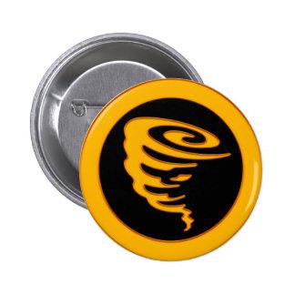 Tornado del oro pin redondo 5 cm
