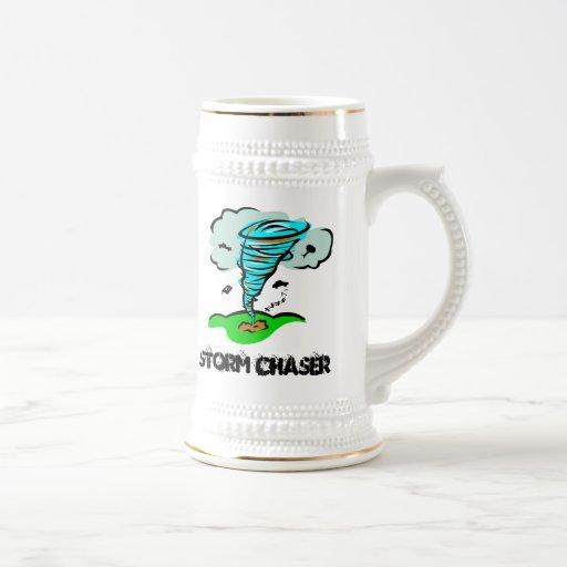Tornado del tornado del cazador de la tormenta tazas de café