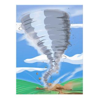 Tornado del tornado invitaciones personales