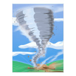 """Tornado del tornado invitación 6.5"""" x 8.75"""""""