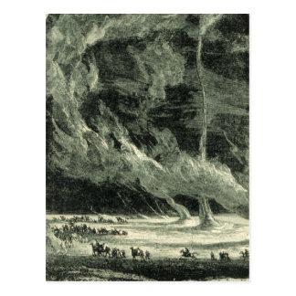 Tornado del vintage postal