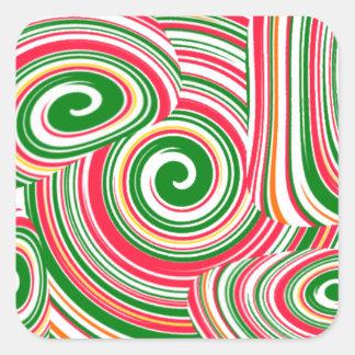Tornado, diseño digital del arte pegatina cuadrada
