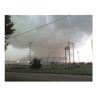 Tornado en la postal de Arkansas