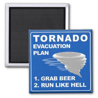 Tornado Evacuation Plan 2 Inch Square Magnet