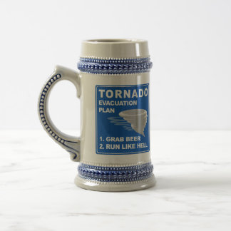 Tornado Evacuation Plan 18 Oz Beer Stein