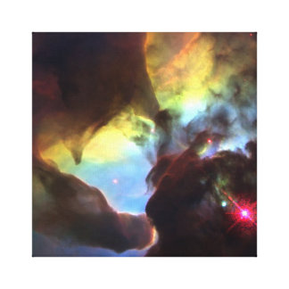 Tornado gigante en la nebulosa de la laguna lienzo envuelto para galerias