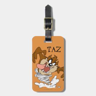 Tornado girante de TAZ™ Etiquetas Maletas