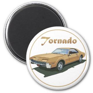 Tornado Gold 2 Inch Round Magnet